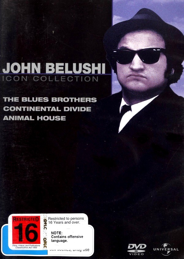 John Belushi Movie Collection (Blues Brothers / Continental Divide / Animal House) (3 Disc Set)  on DVD image