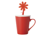 Doozie Bloom Mug with Lid (310ml) - Red