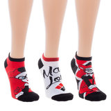 Harley Quinn 3 Pack Ankle Sock Set