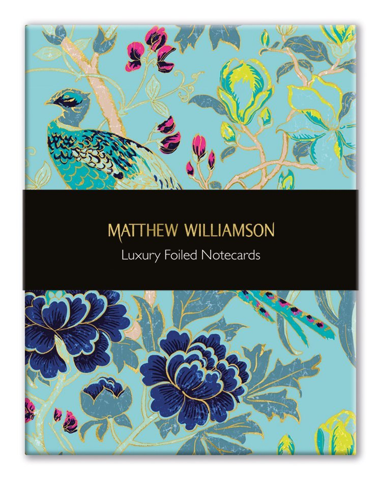 Museums and Galleries: Magnolia Peacock - Foiled Note-Cards image