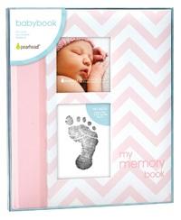 Pearhead: Chevron Baby Book - Pink