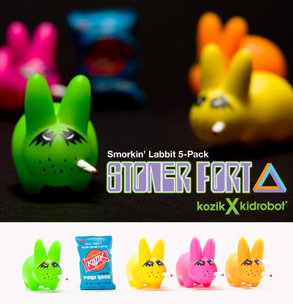"Stoner Fort 1.5"" Smorkin' Labbit Vinyl Mini Figures (5-Pack) - Frank Kozik"
