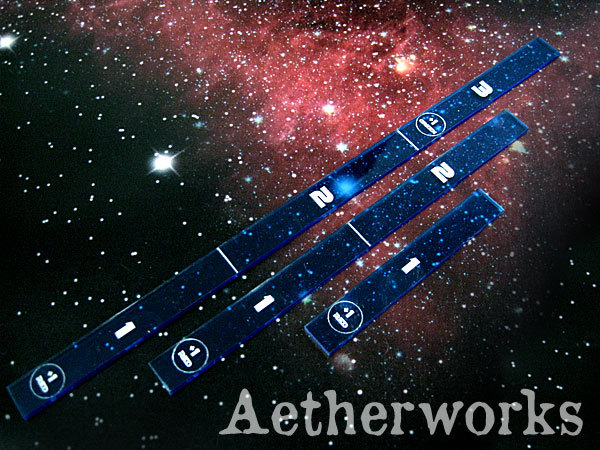 Aetherworks Range Ruler - Transparent Blue (3 Pack)