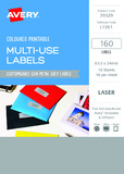 Avery L7261 Multi-Use Labels - Metal Grey (10 Sheets/160 Labels)