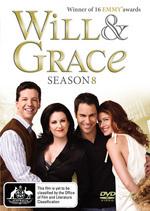 Will & Grace - Season 8 (4 Disc Set) on DVD