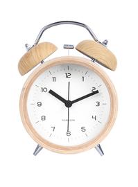 Karlsson Alarm Clock - Classic Bell (Wood/White)