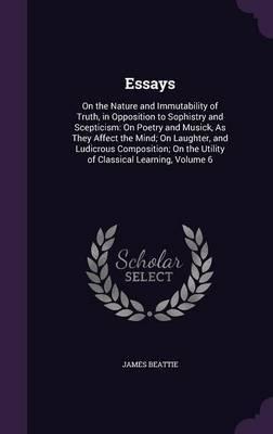 Essays by James Beattie image
