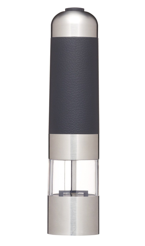 MasterClass: Electric Stainless Steel Grinding Salt & Pepper Mill Gift Boxed (22cm)