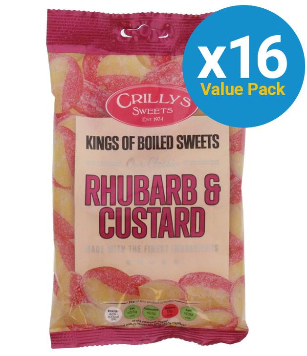 Crillys: Rhurbarb & Custard 150g (16 Pack)