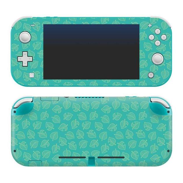 """Nintendo Switch Lite Animal Crossing """"Teal Leaves"""" Skin for Switch"""