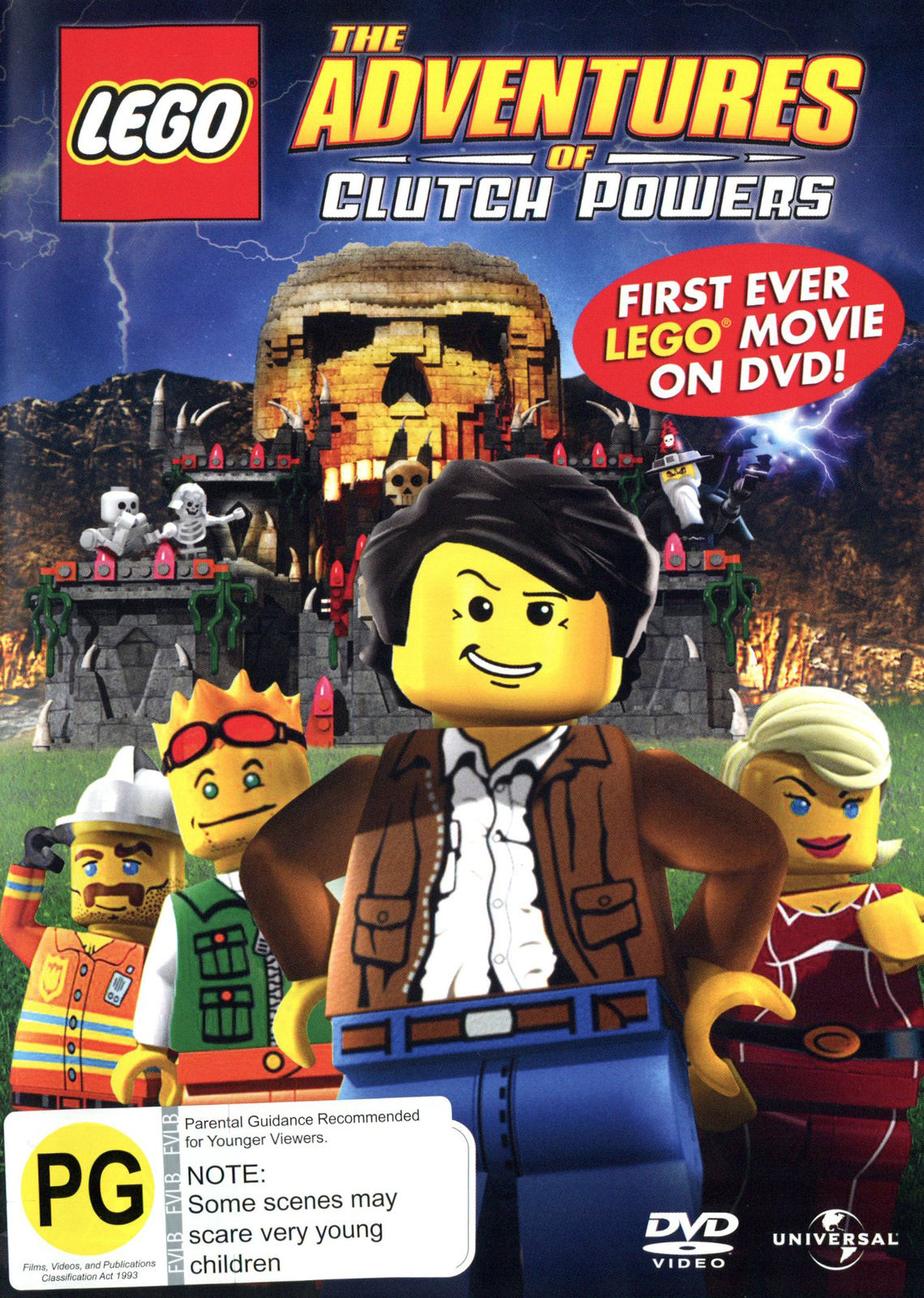 Lego - The Adventures of Clutch Powers on DVD image