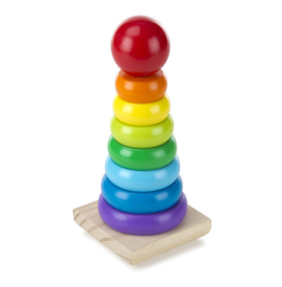 Melissa & Doug: Wooden Rainbow Stacker image