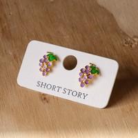 Short Story: Funky Play Earrings - Grapes