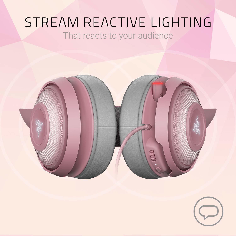 Razer Kraken Kitty Ears Chroma USB Headset (Quartz) for PC image
