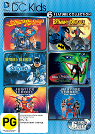 DC Kids 6 Feature Collection on DVD