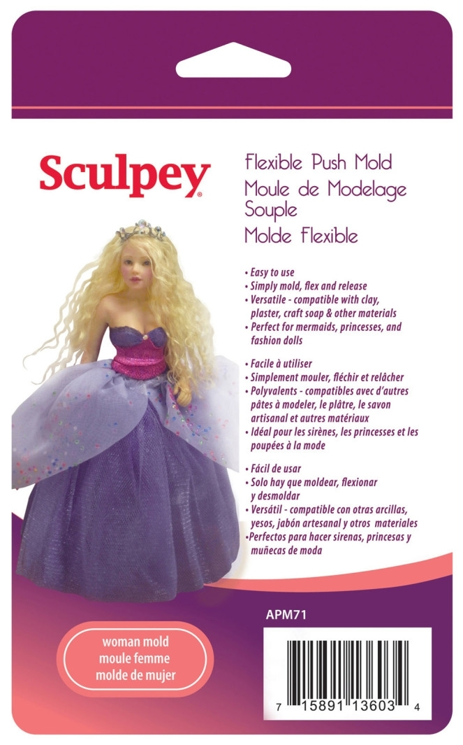 Sculpey Doll Molds - Woman Doll image