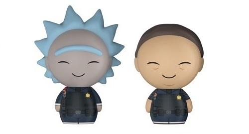 Rick and Morty - Police Rick & Police Morty Dorbz Vinyl 2-Pack image