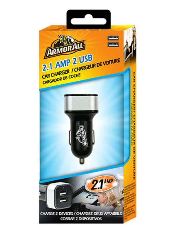 Armor All: 2.1Amp Dual Port USB Car Charger