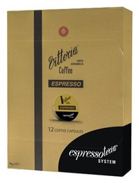 Vittoria Espresso 100% Arabica Coffee Capsules