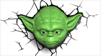 3D Deco Night Light - Star Wars Yoda Face