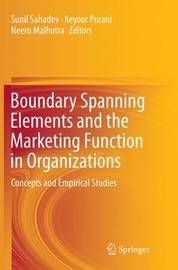Boundary Spanning Elements and the Marketing Function in Organizations image