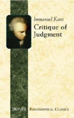 Critique of Judgement by Immanuel Kant