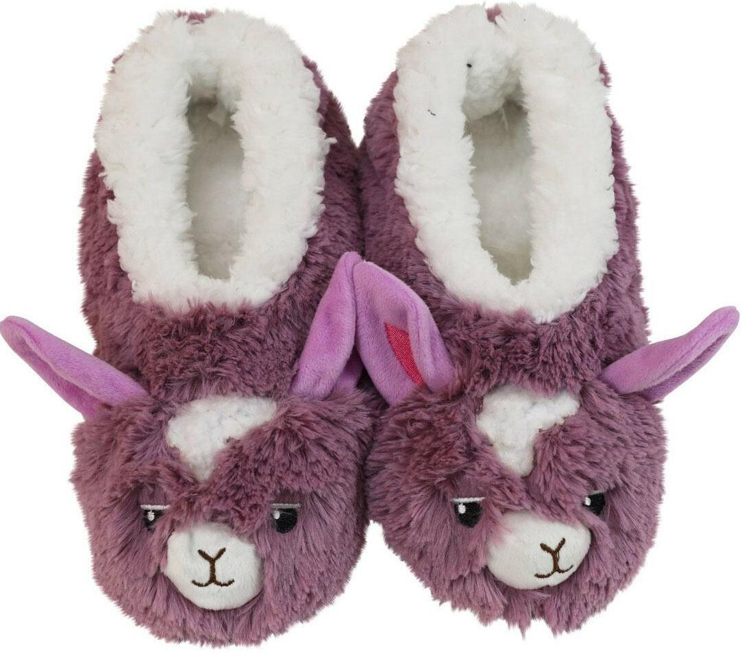 Slumbies Llama Furry Foot Pals Slippers (S) image