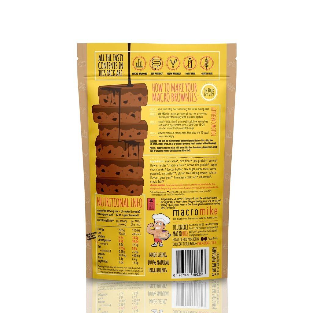 Macro Mike Baking Mix Brownies - Double Chocolate Fudge V2 (300g) image