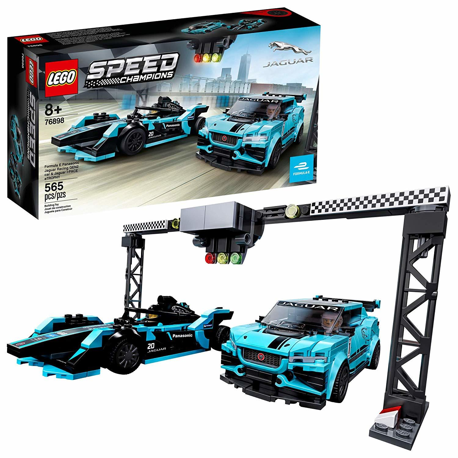 LEGO Speed Champions: Formula E Panasonic Jaguar Racing GEN2 car & Jaguar I-PACE eTROPHY - (76898) image