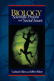 Biology: Scientific Process and Social Issues by Garland E. Allen image