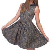 Fantastic Beasts: All Over Print Collar Dress (Medium)