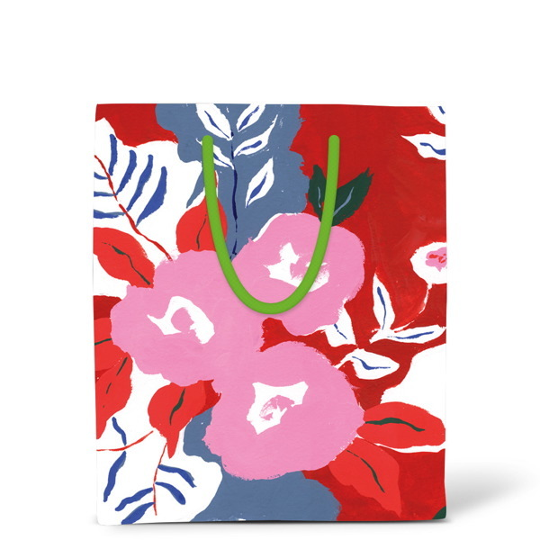 Christmas Gift Bags Australia.Buy Red Cap Christmas Gift Bag Ruby Red Flower Small At
