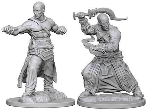 Pathfinder Deep Cuts: Unpainted Miniature Figures - Human Male Monk image
