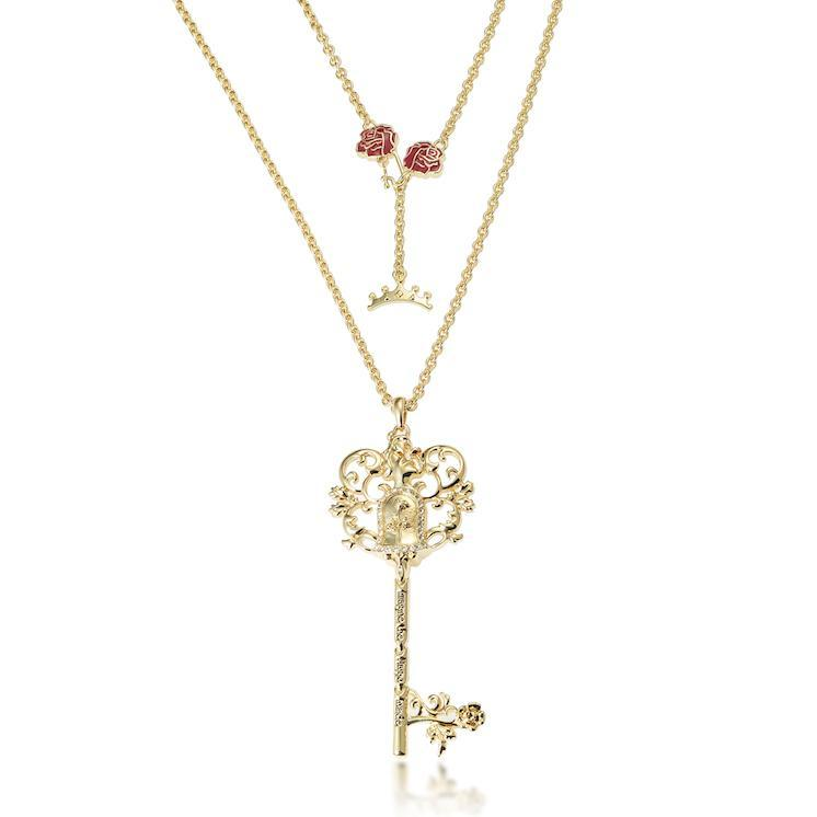 Disney Couture Princess Belle Necklace - Gold image