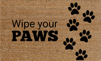 Natural Fibre Doormat - Wipe your Paws