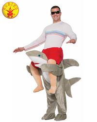 Shark Piggy Back Costume - Size Std