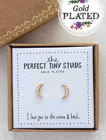 Natural Life: Perfect Tiny Studs - Moon