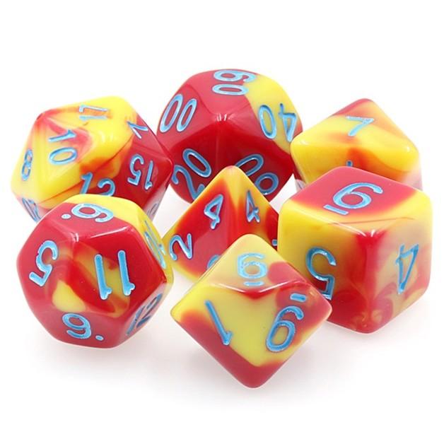 Honor Guard Fusion Polyhedral Dice Set