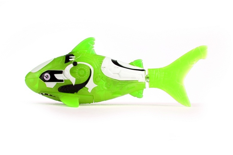 Zuru robo fish green shark toy at mighty ape nz for Zuru robo fish
