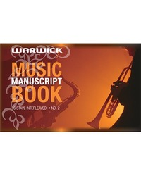 Warwick No.2 32lf 6 Stave 7mm Ruled Music Book