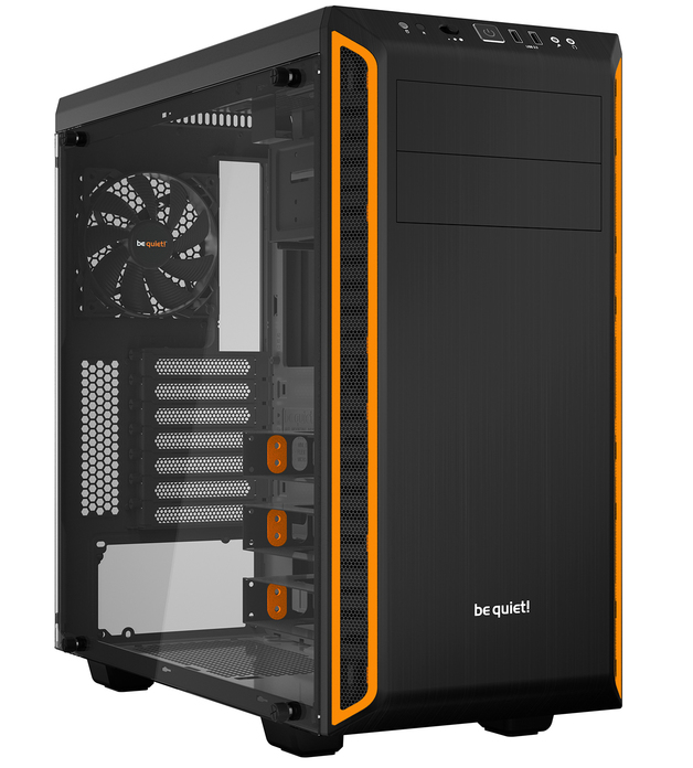 be quiet! Pure Base 600 Windowed Orange