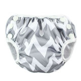 Bumkins: Swim Nappy - Grey Chevron (Small)