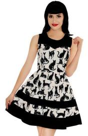 Retrolicious: Sketchy Cat Dress - (XL)