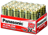 Panasonic Alkaline AA Batteries - 24 Pack