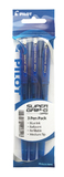 Pilot Super Grip-G Stick Ballpoint Pen - Blue (3 Pack)