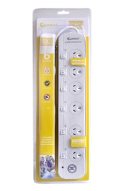 Sansai 6 Way Surge Powerboard with Individual Switches image