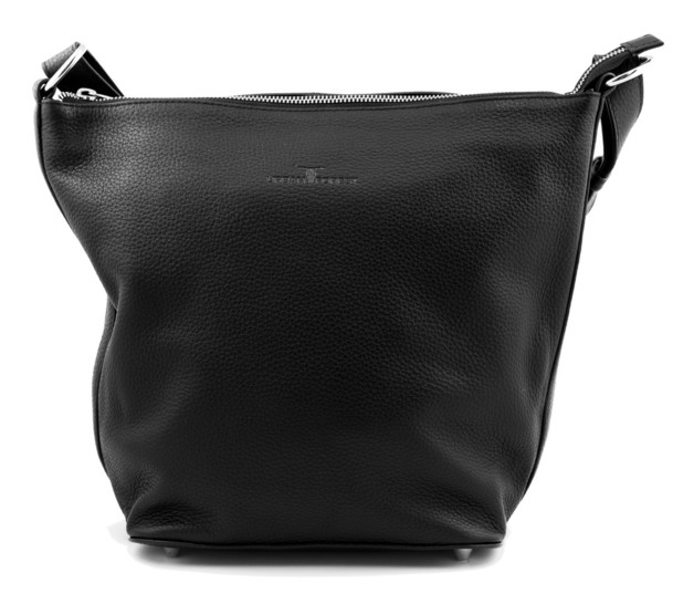 Urban Forest: Lotus Leather Handbag - Black