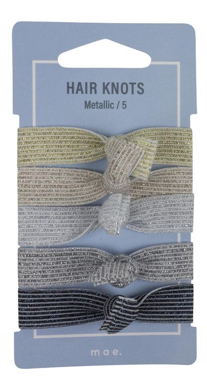 Mae: Elastics Hair Knots Metallic (5)