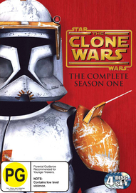 Star Wars: The Clone Wars: The Complete Season 1 (4 Discs) on DVD