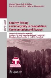Security, Privacy and Anonymity in Computation, Communication and Storage image